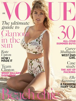 Vogue Jun14 Cover with Kate Upton