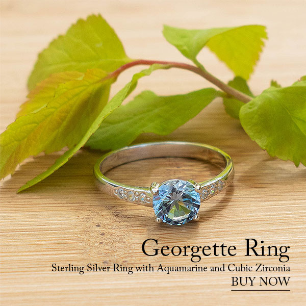 GEORGETTE Aquamarine Silver Ring